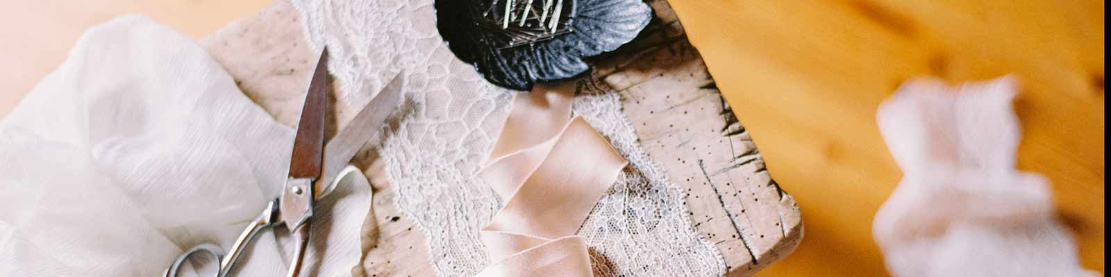 scissors fabric lace brides